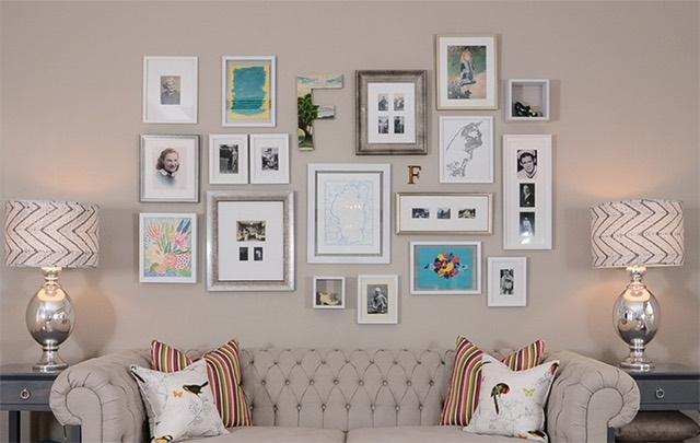 Living Room Art Gallery Wall