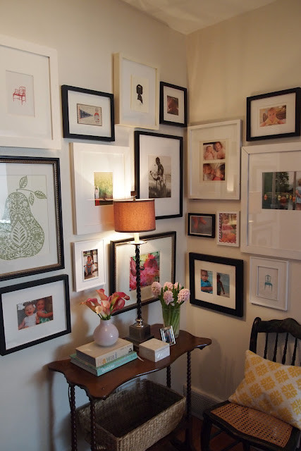 Gallery wall design by Little Black Door Designs