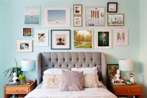 Gallery wall design by L. Weatherbee Design Studio