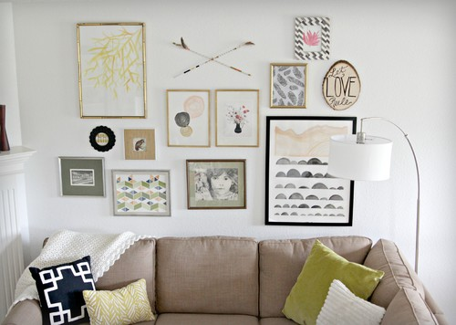 Gallery wall design by Heather Freeman Design Co.