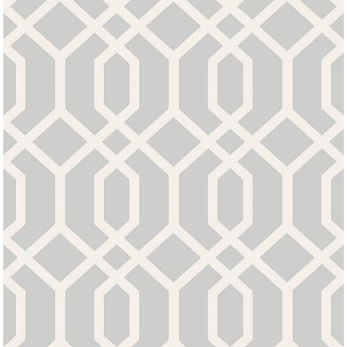Brewster Trellis Gray Montauk wallpaper from Home Depot