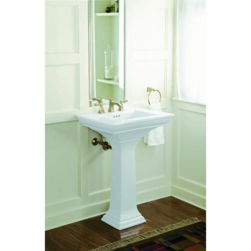 small bathroom decorating ideas: Kohler Stately ceramic pedestal sink