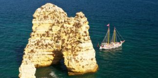 Lagos, Portugal has beautiful cliffs and beaches