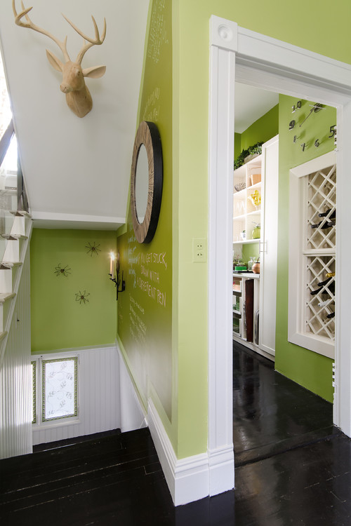 Happy paint colors on these walls by Kathy Corbet Interiors