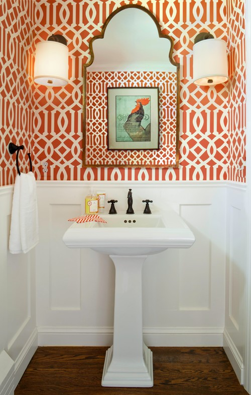 Small bathroom decorated by Laura Iverson Design