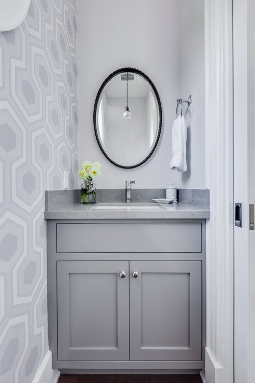 small bathroom decorating idea by Lindsay Chambers Design