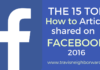 15 Top How to Articles Shared on Facebook 2016