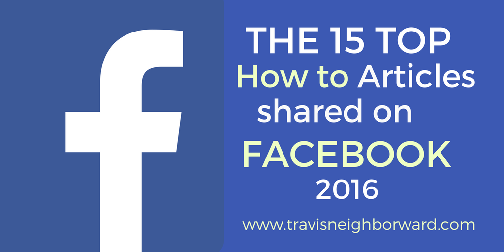 Facebook Top Shared Articles from 2016