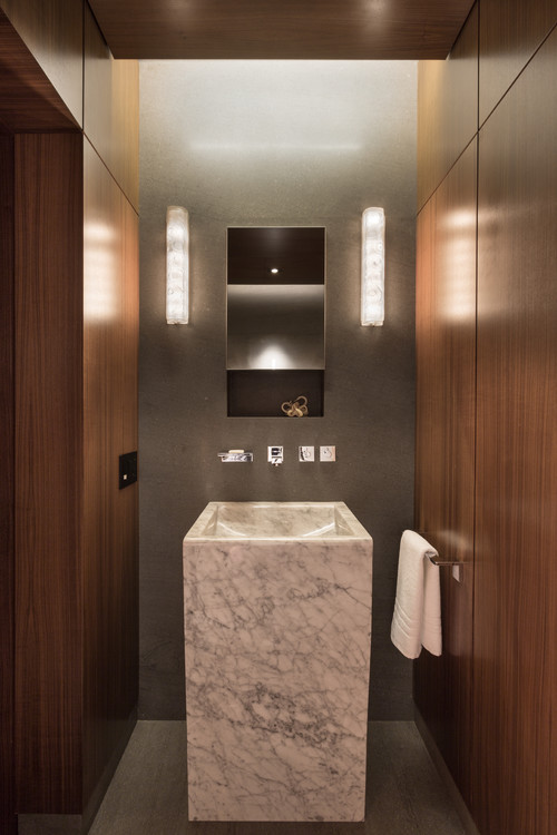 small bathroom decorating idea by Touzet Studio