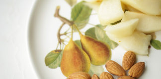 Pears and almonds make for healthy snacks