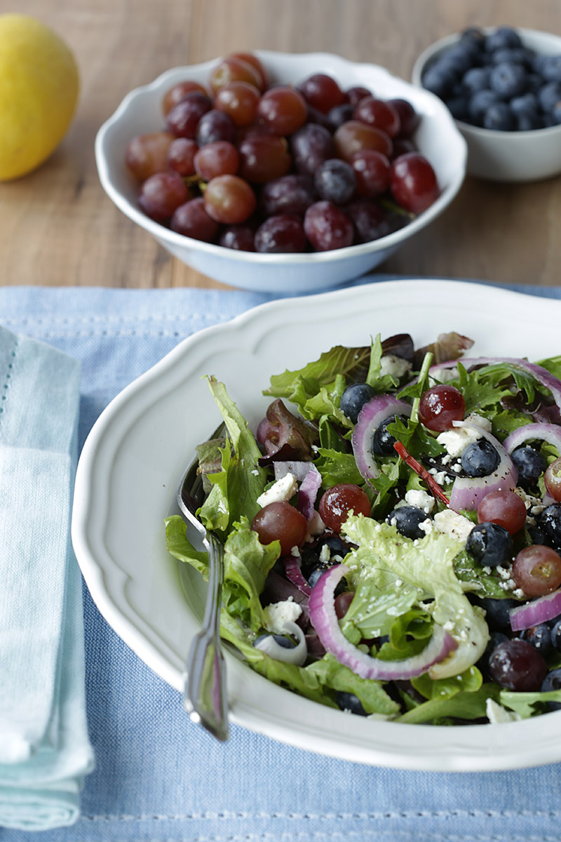 Blueberry salad with feta cheese, grapes and red onions by Travis Neighbor Ward