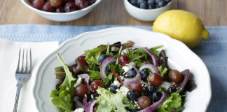 Blueberry salad with feta cheese by Travis Neighbor Ward