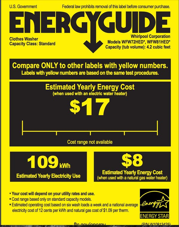 EnergyGuide Card in the washing machine buyer guide by Travis Neighbor Ward