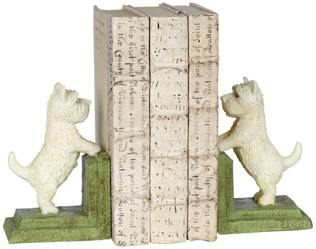 Westie dog bookends by Kensington Hill