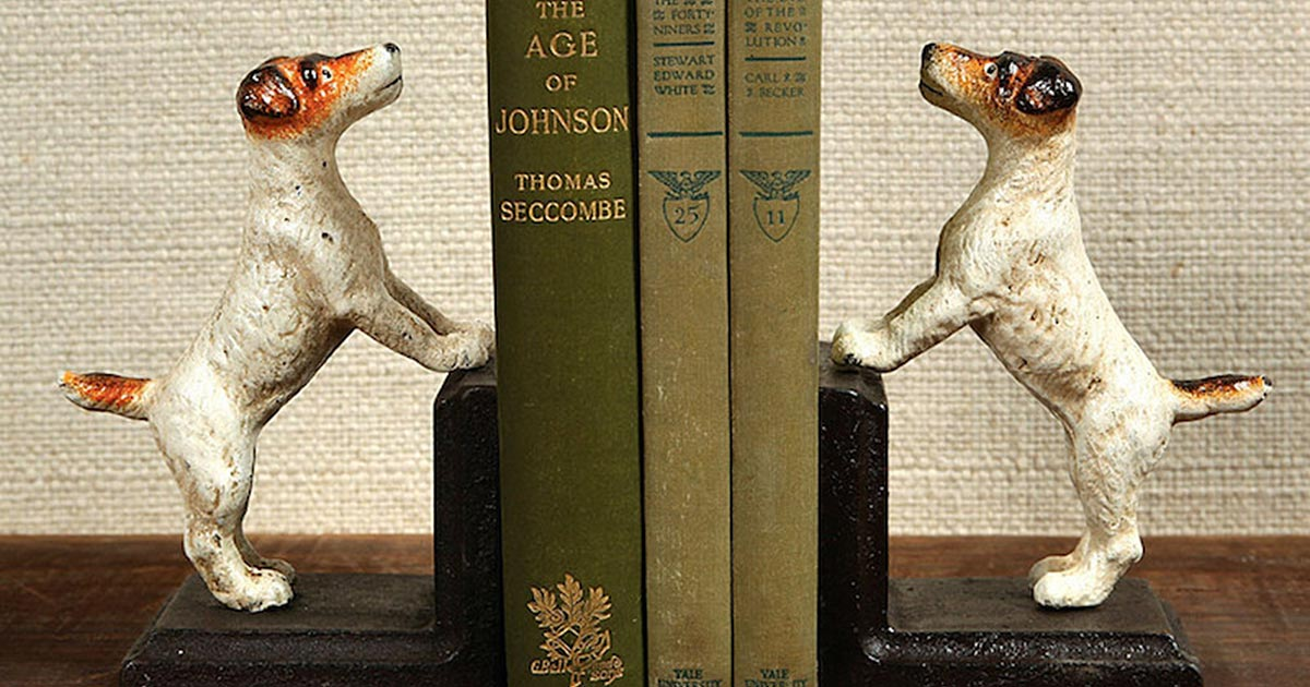Dog Bookends Cast Iron Jack Russell