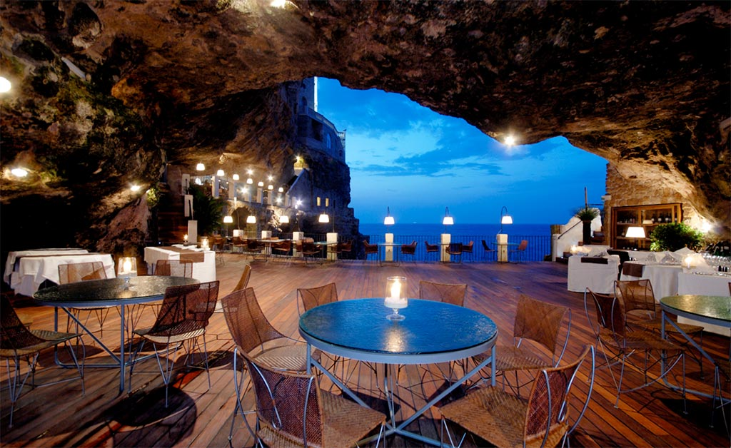 Grotta Palazzese Restaurant In Italy
