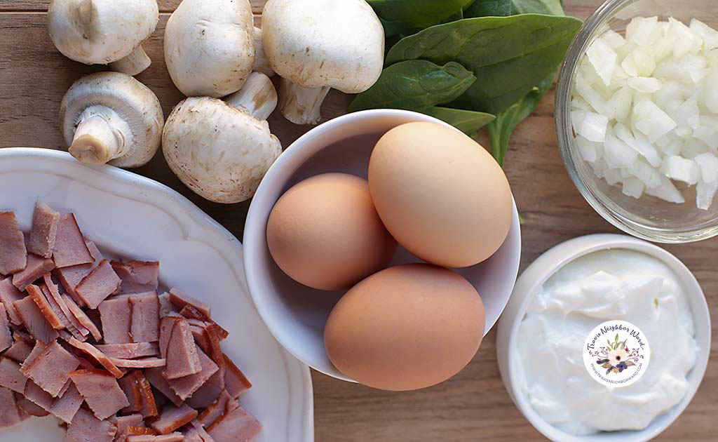 Easy spinach quiche recipe ingredients