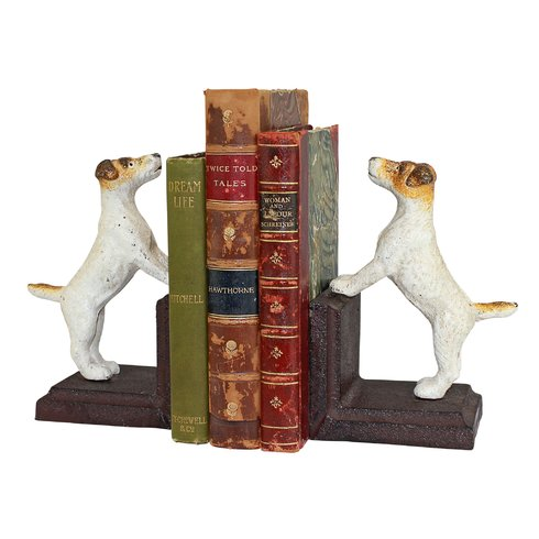 Jack Russell terrier dog bookends