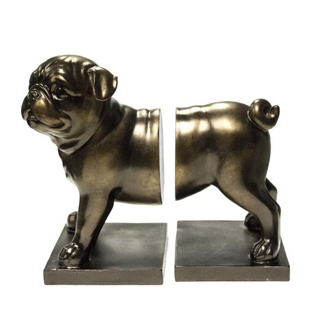 Pug dog bookend