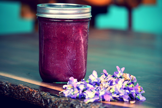 Edible flower recipes include jam
