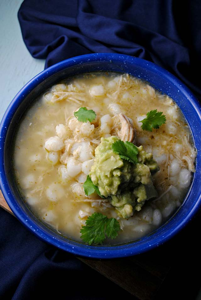 Healthy slow cooker soup recipe: Posole by Sweet Life