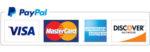 Paypal logo plus credit cards