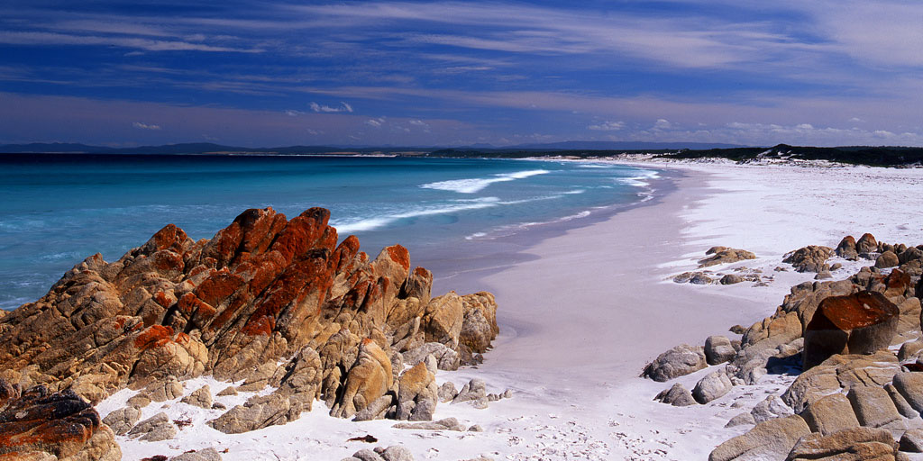 Best beaches include Bay of Fires beach
