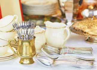 Wedding registries include silverware and china
