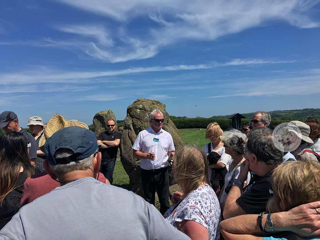Gerry, the OPW guide at Newgrange