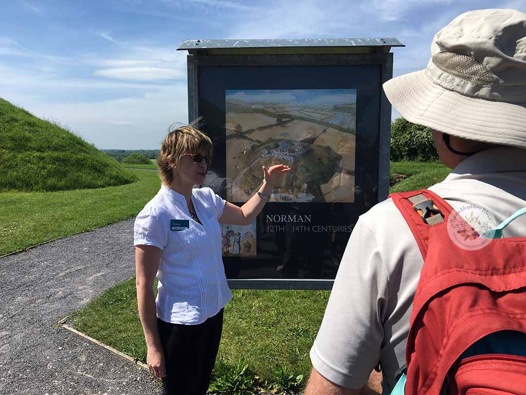Collette, our OPW guide at Knowth