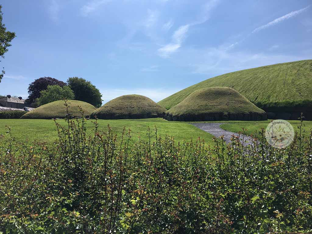 Knowth passage tombs in Bru na Boinne, Ireland