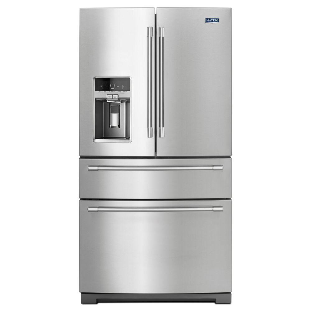 The best French door fridges includes the Maytag MFX2676FRZ