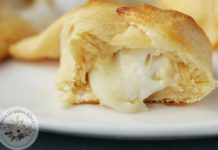 Crescent roll appetizers with two cheeses