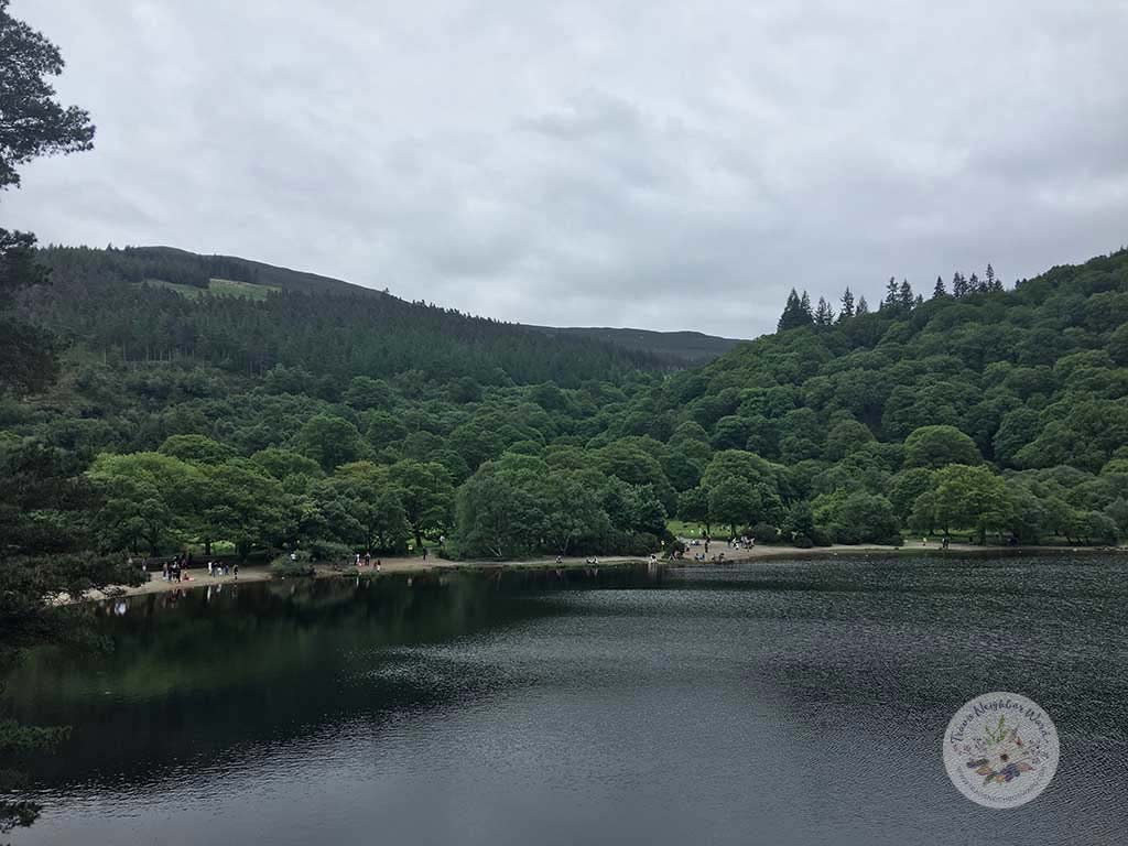 Beach at Glendalough lake