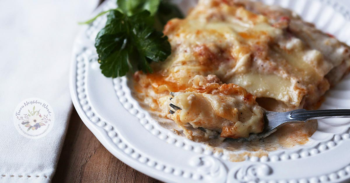 This traditional lasagna recipe is from Italy