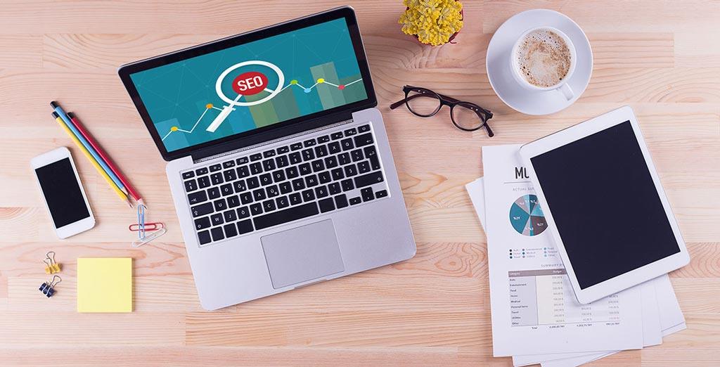 SEO Audit on laptop